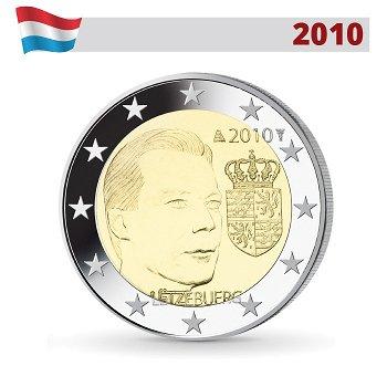 2 Euro Münze 2010, Wappen des Großherzogs Henri, Luxemburg