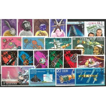 Space and Rockets - 100 different stamps