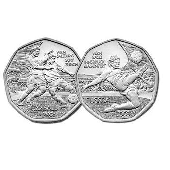 Fußball-EM 2008, 2 x 5-Euro-Silbermünze, Österreich