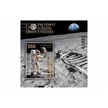 50 Jahre Mondlandung: Apollo 11 - Briefmarkenblock postfrisch, Ungarn