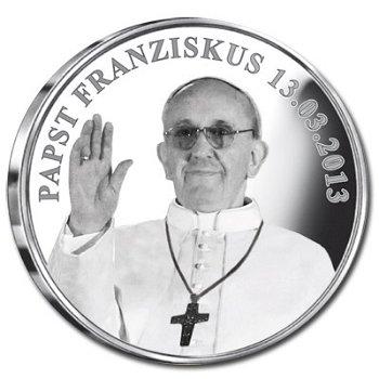 """Medaille """"Papst Franziskus"""", Deutschland"""