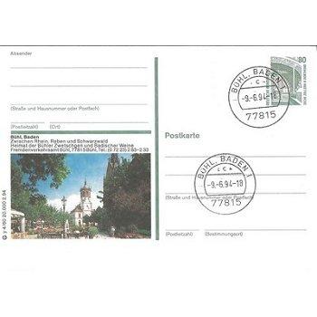 """7580 Bühl, Baden - Bildpostkarte """"Reben und Schwarzwald"""""""