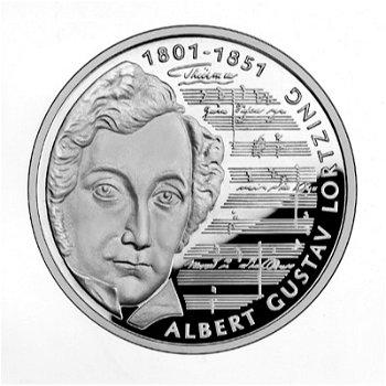 """10-DM-Silbermünze """"Albert Lortzing"""", Stempelglanz"""