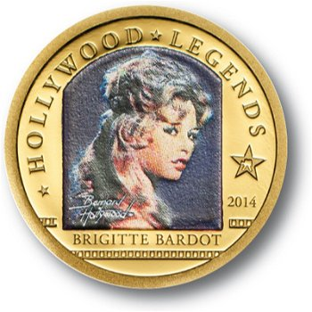Brigitte Bardot, 1 Dollar Goldmünze, Cook Inseln