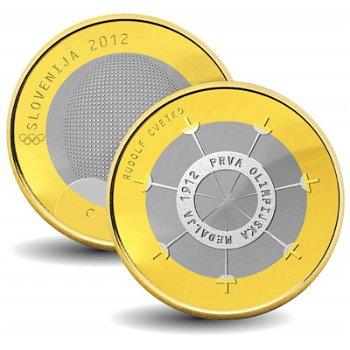 100. Jahrestag der ersten olympischen Medaille - 3 Euro Münze 2012, Slowenien
