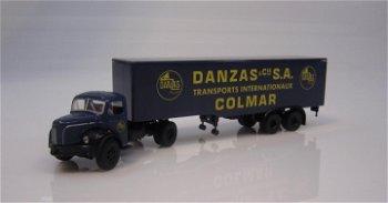 Modell-LKW:Berliet TLR8 - Danzas Colmar -(Brekina, 1:87)