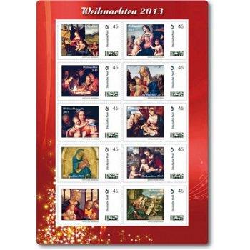 Weihnachten 2013, Weihnachtsgemälde - Kleinbogen postfrisch, Deutschland