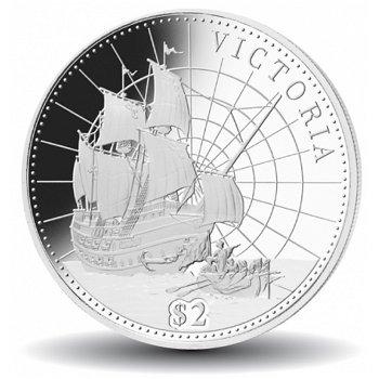 Geschichte der Seefahrt: Die Viktoria, Silbermünze, Fiji