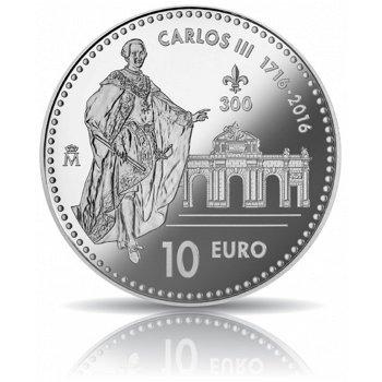 König Karl III., 10 Euro Silbermünze, Spanien
