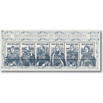 150 Jahre Briefmarken - Block 27, Katalog-Nr. 1134-39 postfrisch, Neuseeland
