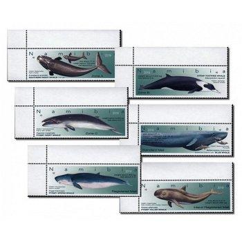 Wale in Namibia - 6 Briefmarken postfrisch, Namibia
