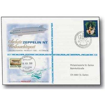 Zeppelin NT, Friedrichshafen - Wienacht-Tobel - Altenrhein - Weihnachtspost 2003, Beleg, Schweiz