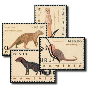 Mangusten - 4 Briefmarken gestempelt, Katalog-Nr. 1426-1429, Namibia