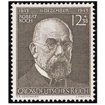 100. Geburtstag von Robert Koch - Briefmarke, Katalog-Nr. 864, postfrisch, Deutsches Reich