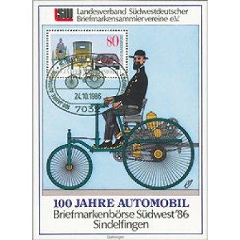 Automobil - Briefmarken-Block, Deutschland