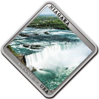 Niagara Wasserfall - Silbermünze mit Swarovski-Elementen, Niue