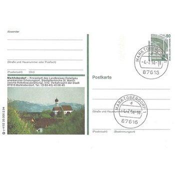 """8952 Marktoberdorf - Bildpostkarte """"Kreisstadt des Landes"""""""