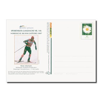 Sporthilfe, Ronny Ackermann - Ganzsache Nr. 146 postfrisch, Deutschland