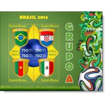 Fußball-Weltmeisterschaft, Gruppe A - Briefmarken-Block postfrisch, Guinea-Bissau