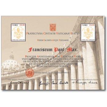 Papst Franziskus - Briefmarken-Block postfrisch, Vatikan