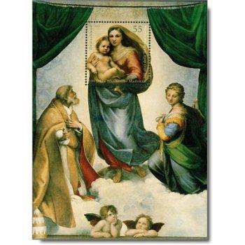 500 Jahre Sixtinische Madonna, Block 79 postfrisch, Katalog-Nr. 2919, Bundesrepublik