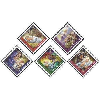 Weihnachten – Briefmarken postfrisch, Katalog-Nr. 2869-2873, Neuseeland