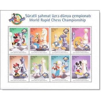 "70 Jahre Walt-Disney-Figur Micky Maus ""Blitzschach-Weltmeisterschaft"" - Briefmarken-Block"