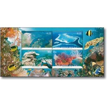Korallenriffe - Briefmarken-Block postfrisch, Australien