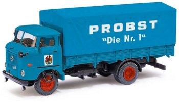 "Modellauto:IFA W50 L Sp ""Zirkus Probst - Nr. 1"", blau(Busch, 1:87)"