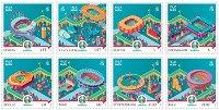 Fußball-EM 2021 - 8 Briefmarken postfrisch, Insel Man
