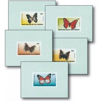 Schmetterlinge - 5 Luxusblocks postfrisch, Katalog-Nr. 867-871, Niger