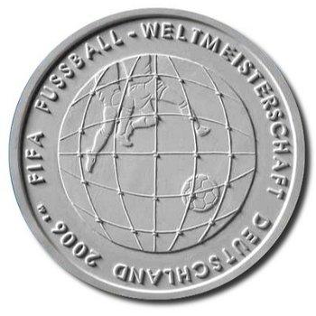 Fußball-Weltmeisterschaft 2006, 3. Ausgabe, 10-Euro-Silbermünze 2005, Polierte Platte