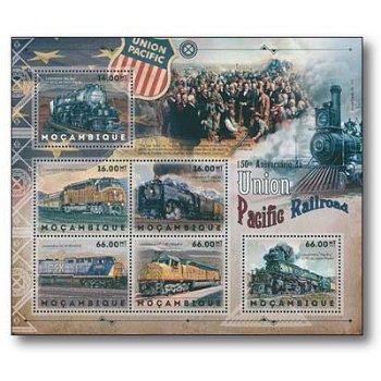 150 Jahre Union Pacific Railroad - Kleinbogen-Block postfrisch, Mocambique
