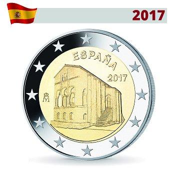 Monumente von Oviedo - UNESCO, 2 Euro Münze 2017, Spanien