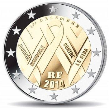 Welt-Aids-Tag, 2 Euro Münze 2014, Frankreich