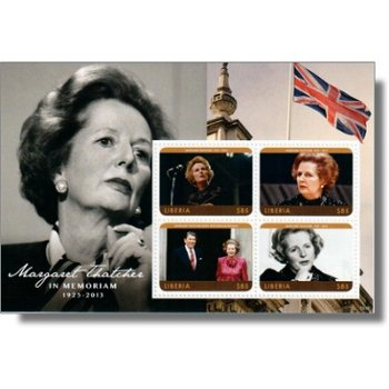 Margaret Thatcher - Briefmarken-Block postfrisch, Liberia