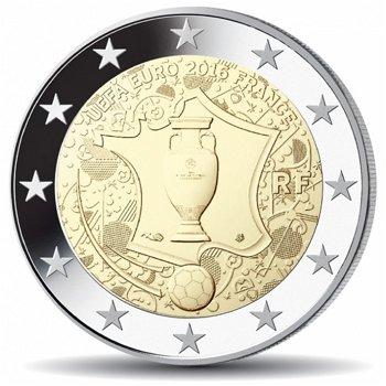 Fußball-Europameisterschaft, 2 Euro-Münze 2016, Frankreich