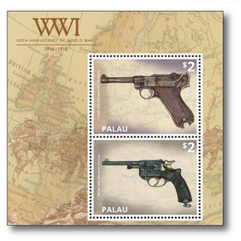 Revolver - Briefmarken-Block postfrisch, Palau