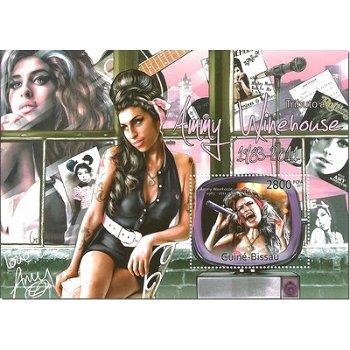 Amy Winehouse - Briefmarken-Block postfrisch, Guinea-Bissau
