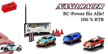 RC-Modell:Nano Racer, MHz, 100% RTR(Carson RS Sport, 1:60)