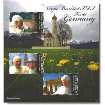 Papst Benedikt XVI. besucht Deutschland - Briefmarken-Block postfrisch, Antigua-Barbuda