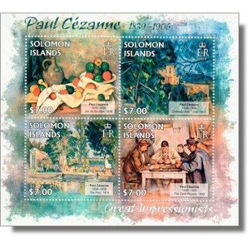 Paul Cezanne - Briefmarken-Block postfrisch, Salomon-Inseln