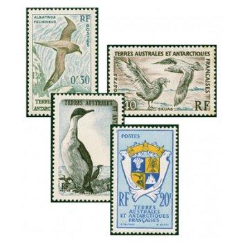 Vögel & Wappen der Antarktis - 4 Briefmarken postfrisch, Katalog-Nr. 14-17, TAAF