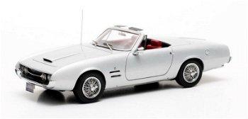 Modellauto:Ghia 450 SS Cabriolet von 1966, silber(Matrix, 1:43)