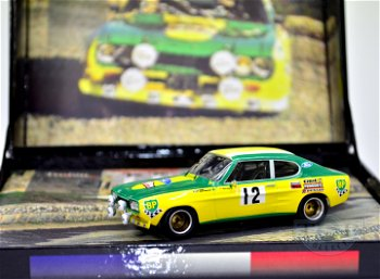 Modellauto:Ford Capri 3000 # 12, gelb/grün(Trofeú, 1:43)