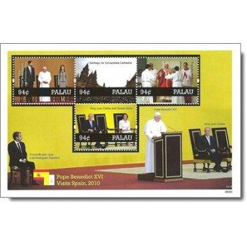 Besuch von Papst Benedikt XVI. in Spanien - Briefmarken-Block postfrisch, Palau