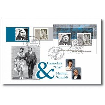 100. Geburtstag von Helmut und Loki Schmidt - Luxusbeleg, Deutschland