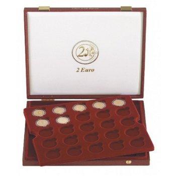 Lindner Luxuskassette für 50 verkapselte 2 Euro Münzen, LI 2454