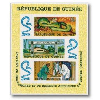 Forschungsinstitut - Briefmarken-Block postfrisch, Guinea