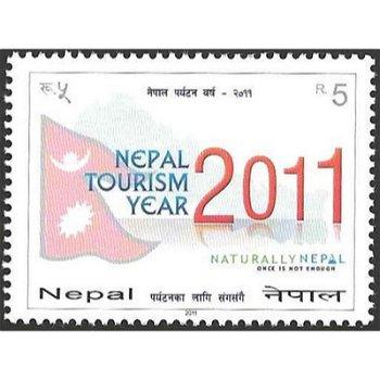 Tourismusjahr 2011 – Briefmarke postfrisch, Katalog-Nr. 1011, Nepal